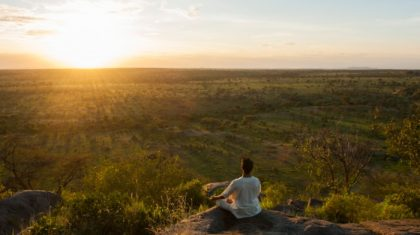 Serengeti sunset yoga